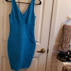 Express Blue X Small Banded Dress